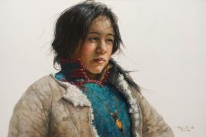 """SOLD """"Forethought"""" by Donna Zhang 24 x 36 – oil $6050 Unframed"""