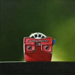"""SOLD """"Hindsight,"""" by Glen Melville 16 x 16 - acrylic and oil $875 (thick canvas wrap)"""