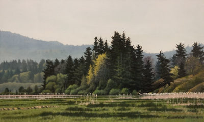 """""""Chemainus River Estuary,"""" by Keith Hiscock 12 x 20 - oil $1800 Unframed"""