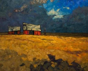 """SOLD """"Expanse,"""" by Phil Buytendorp 16 x 20 - oil $1625 Unframed"""