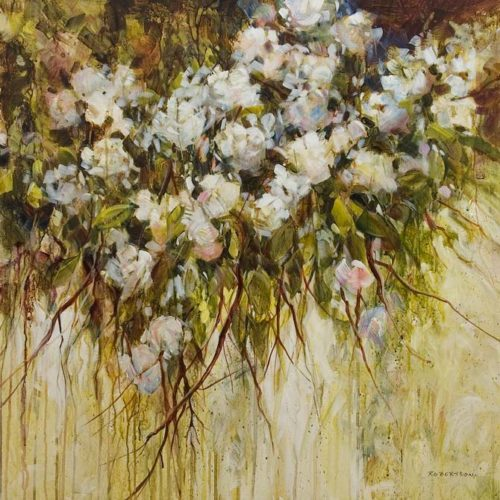 """""""New Dawn,"""" by Janice Robertson 36 x 36 - acrylic $4150 (thick canvas wrap)"""
