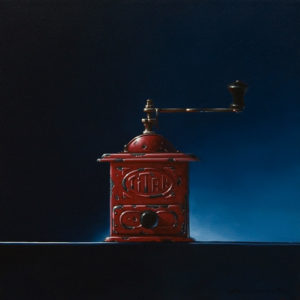 """SOLD """"Power Outlet,"""" by Glen Melville 16 x 16 - acrylic and oil $875 (thick canvas wrap)"""