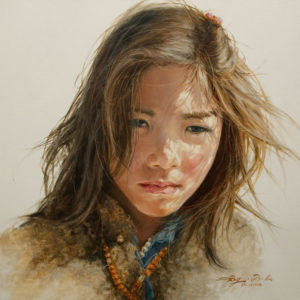 """SOLD """"Light and Shadow,"""" by Donna Zhang 24 x 24 - oil $4500 Unframed"""