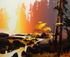 """ON HOLD """"Rivers Inlet Evening,"""" by Michael O'Toole 24 x 30 - acrylic"""