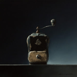 """SOLD """"Tall, Dark and Handsome,"""" by Glen Melville 16 x 16 - acrylic and oil $875 (thick canvas wrap)"""