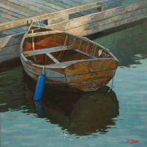 """SOLD """"Dreaming,"""" by Graeme Shaw 20 x 20 - oil $1350 Unframed"""