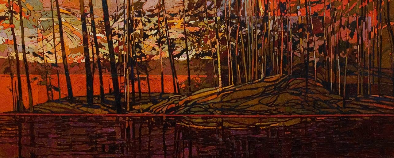 SOLD No. 2087, by Bob Kebic 24 x 60 - oil $5040 Unframed