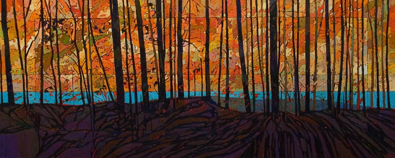 SOLD No. 2088, by Bob Kebic 24 x 60 - oil $5040 Unframed