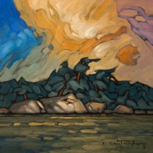 """SOLD """"Becoming the Sky"""" by Phil Buytendorp 8 x 8 - oil $615 Unframed"""
