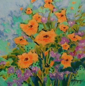 """""""The Colours of the New Summer"""" by Claudette Castonguay 12 x 12 - acrylic $410 Unframed"""