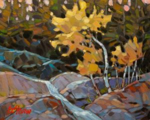 """SOLD """"Forest Stream,"""" by Graeme Shaw 8 x 10 - oil $535 Unframed"""
