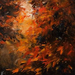 """SOLD """"Glory,"""" by William Liao 12 x 12 - oil $575 Unframed"""