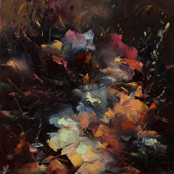 SOLD ``Moment,`` by William Liao 12 x 12 - oil $575 Unframed