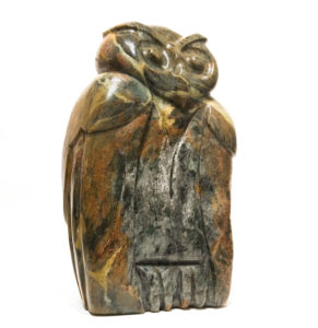 """SOLD """"Really Wise,"""" by Marilyn Armitage 16"""" (H) x 9 1/2"""" (W) - soapstone $1450"""