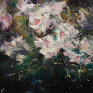 """SOLD """"Smell of Night,"""" by William Liao 12 x 12 - oil $575 Unframed"""