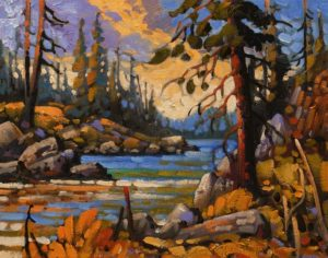 """SOLD """"West Coast Inlet, Near Ucluelet,"""" by Rod Charlesworth 11 x 14 - oil $1220 Unframed"""