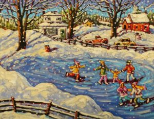"""""""Snowflakes in the Sun,"""" by Rod Charlesworth 14 x 18 - oil $1570 Unframed"""