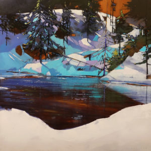 """SOLD """"Crystal Morning,"""" by David Lidbetter 30 x 30 - oil $3375 (thick canvas wrap)"""