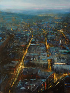 """SOLD """"The Days,"""" by William Liao 30 x 40 - oil $3600 Unframed"""