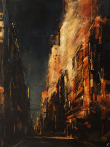"""SOLD """"The First Light,"""" by William Liao 30 x 40 - oil $3600 Unframed"""