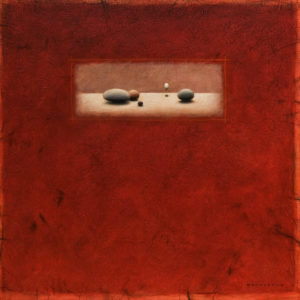 """Red Rocks"" by Michael den Hertog 30 x 30 - acrylic $3200 in artist's frame"