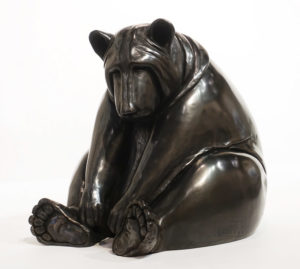 """""""Ted,"""" by Nicola Prinsen 14"""" (H) x 13"""" (W) x 16"""" (L) - bronze Edition of 15 $6200"""