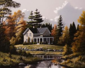 """""""Autumn Clouds,"""" by Bill Saunders 16 x 20 - acrylic $2380 Unframed"""