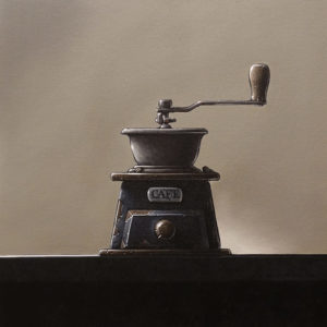 """""""Caffeination Station,"""" by Glen Melville 16 x 16 - acrylic $875 (thick canvas wrap)"""