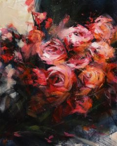 """SOLD """"Endless Love,"""" by William Liao 16 x 20 - acrylic $1120 Unframed"""