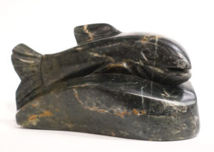 """""""Riding the Wave,"""" by Marilyn Armitage 9"""" (L) x 5 1/2"""" (H) - soapstone $800"""