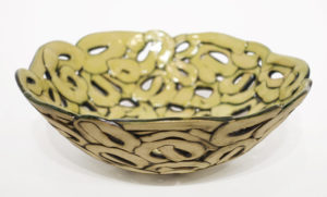 "Bowl (LR-268) by Laurie Rolland hand-built ceramic - 9"" (W) x 3"" (H) $180"