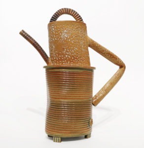 "SOLD Teapot (LR-273) by Laurie Rolland hand-built ceramic - 11"" (H) $260"
