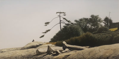 """""""Gonzales Bay,"""" by Keith Hiscock 14 x 28 - watercolour $2000 in artist's frame"""
