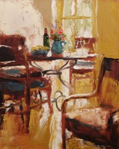 "SOLD ""Summer Room,"" by Paul Healey 16 x 20 - oil $1250 Unframed"