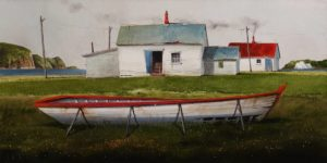 """The Summer Seaside Day,"" by Mark Fletcher 15 x 30 - acrylic $1925 Unframed"