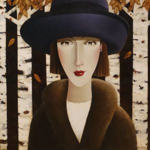 "SOLD ""Willow in the Birches,"" by Danny McBride 30 x 30 - acrylic $3500 (thick canvas wrap)"