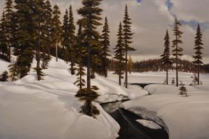 """April Thaw,"" by Ray Ward 24 x 36 - oil $4550 Unframed"