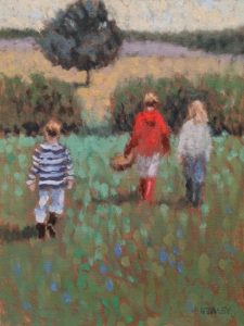 "SOLD ""The Hike,"" by Paul Healey 9 x 12 - oil $525 Unframed"