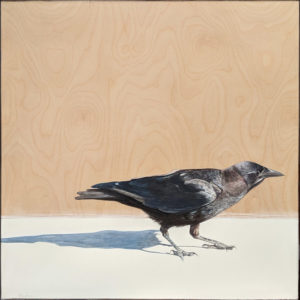 """SOLD """"Patience,"""" by Nikol Haskova 24 x 24 - acrylic $2000 (unframed panel with thick edges)"""