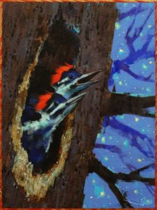 """SOLD """"Skip the Dishes,"""" by Angie Rees 6 x 8 - acrylic $300 (unframed panel with 1 1/2"""" edges)"""