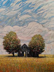 """SOLD """"The Day Passing,"""" by Steve Coffey 36 x 48 - oil $3950 Unframed"""