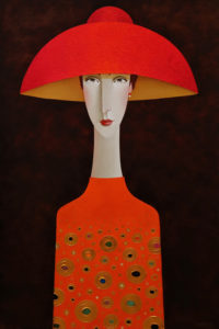 "SOLD ""Emmanuelle,"" by Danny McBride 24 x 36 - acrylic $3400 (thick canvas wrap)"