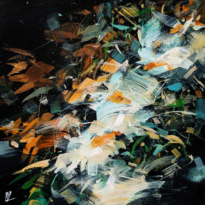 """SOLD """"Perception,"""" by William Liao 12 x 12 - acrylic $635 (thick canvas wrap)"""