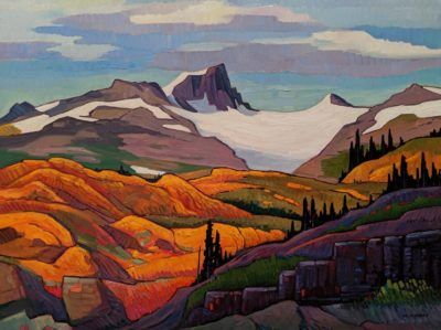 """Mitre Mountain, Stewart, B.C."" by Nicholas Bott 30 x 40 - oil $6060 Unframed"