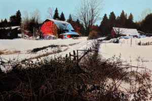 "SOLD ""After the Snowfall,"" by Alan Wylie 32 x 48 - acrylic $14,800 Unframed"