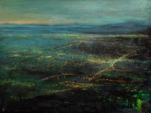"""SOLD """"Dawn's Light,"""" by William Liao 30 x 40 - acrylic $3600 Unframed"""