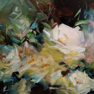 """SOLD """"Soul Vibration,"""" by William Liao 12 x 12 - acrylic $575 Unframed"""