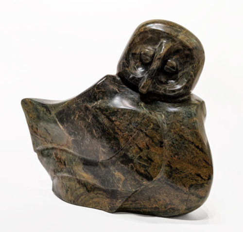 """""""Just Chillin,'"""" by Marilyn Armitage 10"""" (H) x 11"""" (L) - soapstone $1200"""