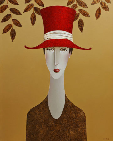 """Laura in the Leaves,"" by Danny McBride 24 x 30 - acrylic $3000 (thick canvas wrap)"