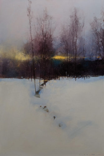 """SOLD """"New Day,"""" by David Lidbetter 20 x 30 - oil $2300 Unframed"""